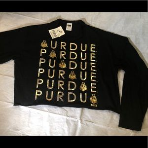 Purdue LONG SLEEVE CAMPUS CUTOUT TEE Pink by VS